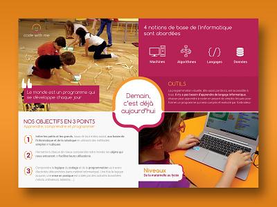Depliant Code With Me poster art brochure design brand illustration creative print