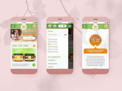 Tiny-Menu Mobile userexperiance userinterface uxuidesign ux design response mobile website