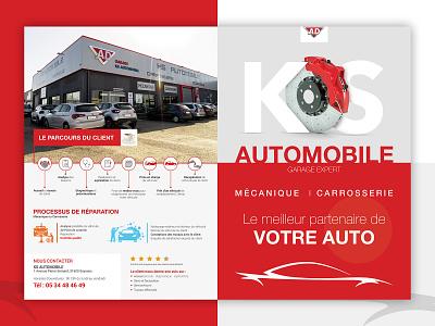 Plaquette KS Automobile vector creative illustrator photoshop printdesigner printdesign broshure cars auto graphic design print