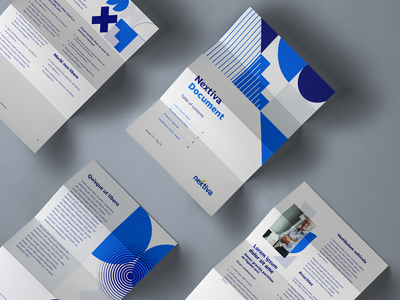 Pdf corporate graphic design blue shapes geometric geometry