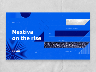 On the rise project noise shapes corporate lines geometric logo design logo nextiva branding