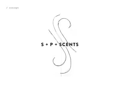 Scent Perfumery scents scent brand leter logo letter p s geometric luxury lux branding logo perfume