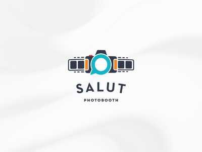 Logo for a friendly photobooth start-up party simple colorful friendly wedding photo booth photobooth branding logo graphic design