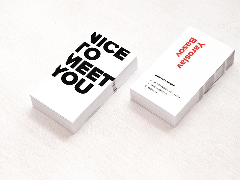 Business card basovdesign yaroslav basov
