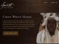 Spirits from the Heart - Web Design