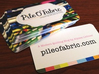 Business Cards for Pile O' Fabric