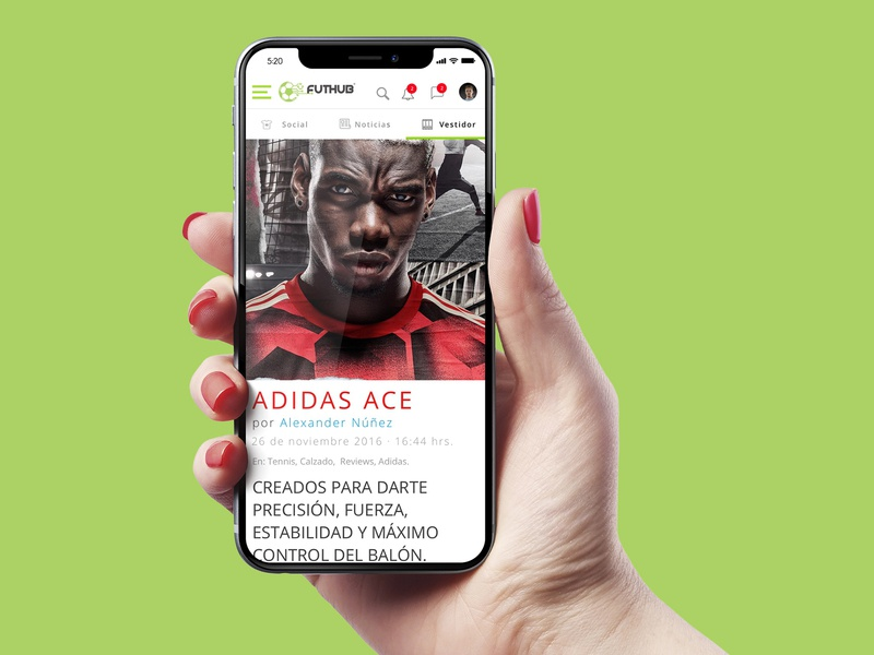 Futhub ios mobile futbol adidas soccer