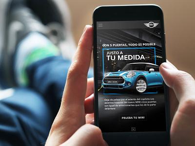 Ju5to a tu medida mobile mobile ios responsible ux ui mini cars smartphone prototype