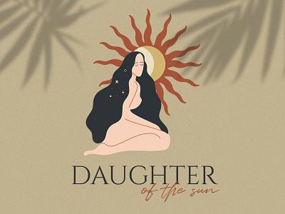 Daughter of the sun - logo illustration graphic design graphic gaya icon vector typography branding design logo marialetta