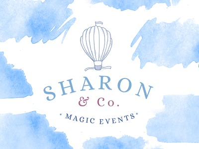 Magic events fonts typo typography marialetta light events graphic design branding design logo kit logo