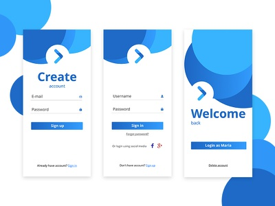 Daily UI - 1. Sign Up pages affinity designer marialetta username sign up ui password login create app daily-ui