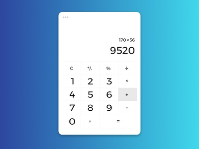 Daily UI - 4. Calculator affinity designer marialetta number calculator ui create app daily-ui