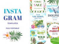 Hawaiian social media templates