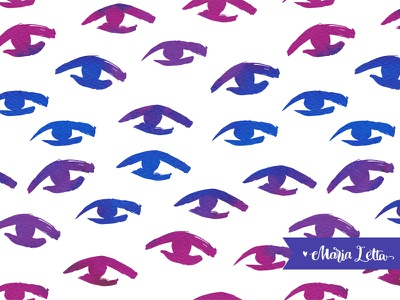 I see you marialetta matiss decoration wrapping splash watercolor doodle surface design seamless pattern