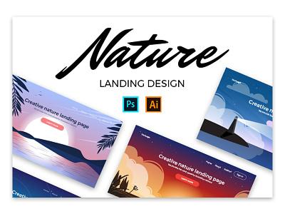 Nature landing design affinity designer marialetta web design illustration landing ui create app daily-ui