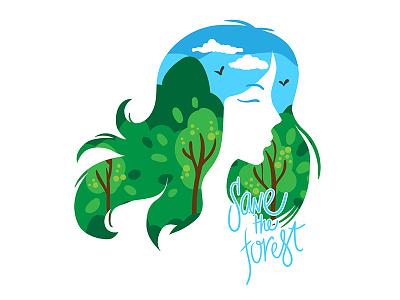 Mother of nature maria letta graphic design concept woman nature logo