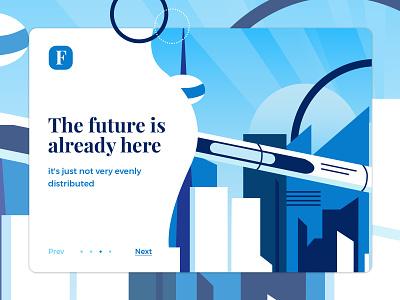 The future is already here graphic design vector marialetta future hyperloop web ui slider rocket landing page illustration icon design crypto banner