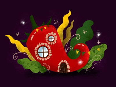 Hot pepper home home graphic  design forest photoshop texture pepper design marialetta illustration