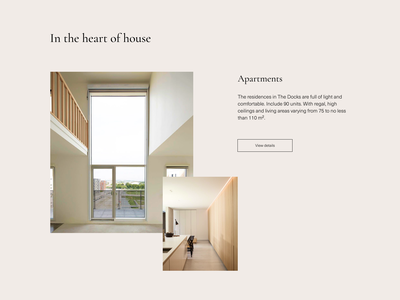 THE DOCKS - real estate redesign concept typography branding ui design realestate architect