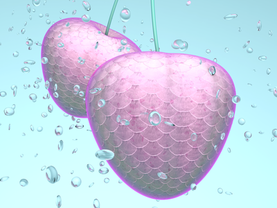 🍒 fruit cherry photoshop substance substance designer abstract 3d c4d