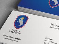 Business Card - Prime Ministers Office Faroe Islands
