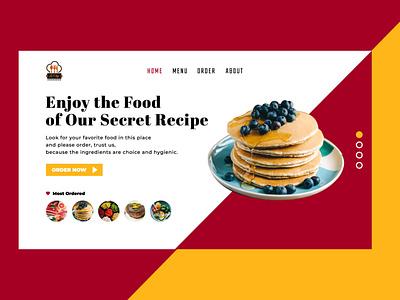 UI Website Restaurant Design minimal web vector ux ui logo illustration design branding app