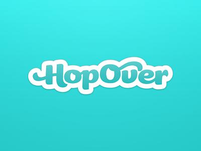 HopOver App Branding meet-up messenger ligatures branding logo app hopover