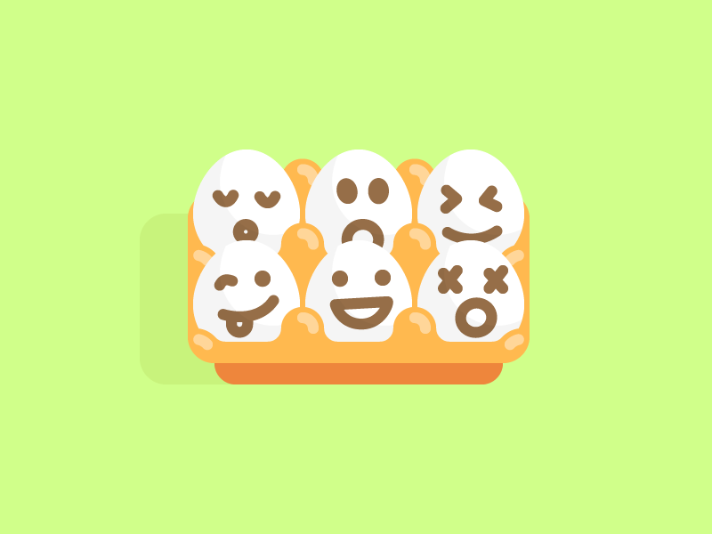 Eggs:) smiley easter flat icon packaging smile egg