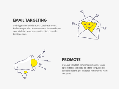 Email targeting and Promote