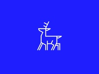 Blue Deer Icon