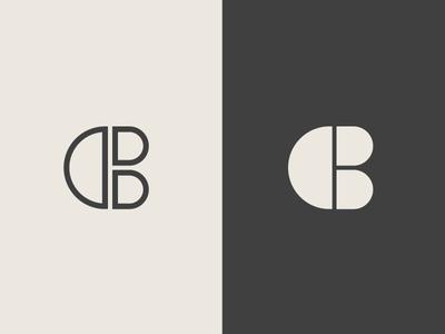 CB Monogram/Smiley Sideways Face