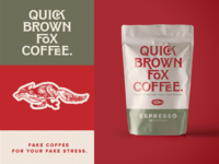Quick Brown Fox Coffee. Fake Brand. Weekly Warm Up