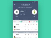 Cricket Match Page