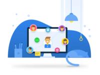 Skillenza.com redesign - Illustrations - Communities