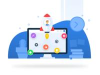 Skillenza.com redesign - Illustrations - Build your profile