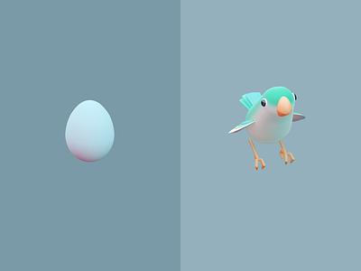 Monk parakeet blender3d game art illustration