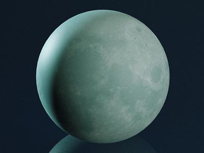 Just the moon. blender3d game art illustration