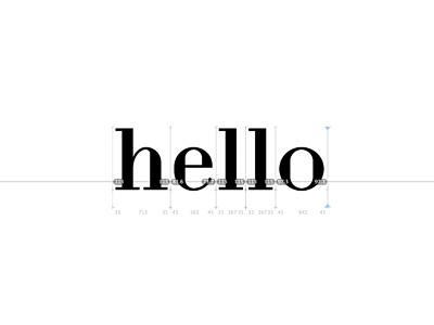 Hello font design typography