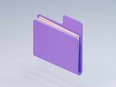 Low-poly OS illustration ui blender3d