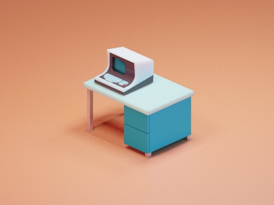 Intertec Superbrain color game art blender3d illustration