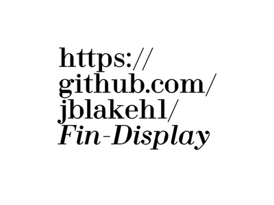 Fin Display font-design typography font
