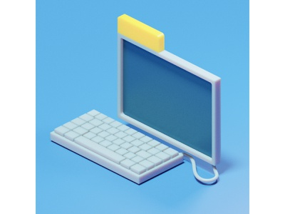 BeOS terminal ui design blender3d illustration