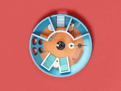 Futuro house blender3d illustration