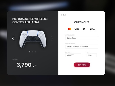 Daily UI 002/100 - Credit Card Checkout dailyui