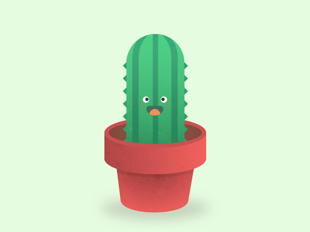 Cute lil' cactus. 30daychallenge green cute plant cactus illustration