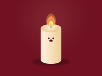Candle wax fire illustration light cute candle