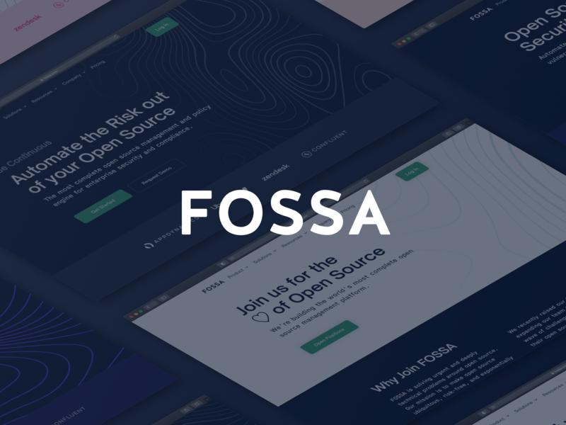 FOSSA Website 2.0 open source security ux branding website ui responsive designer web design