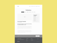 Blog Post Wireframe