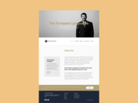 Law Firm Home Page Mockup