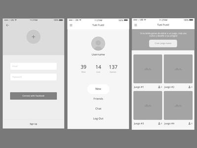 Tutti-Frutti! Wireframe flat argentina app mobile ux ui designer graphic design game